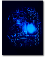 Load image into Gallery viewer, Pirate Skull Party Holding Lamp Glow in Dark HD Rock Chang T-Shirt
