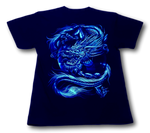 Load image into Gallery viewer, Tiger and Mythical Dragon Glow in Dark HD Rock Chang T-Shirt