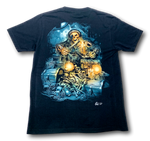 Load image into Gallery viewer, Pirate Skull with Treasure and Bones Glow in the Dark 4D Caballo T-Shirt
