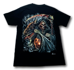 Load image into Gallery viewer, Reaper Skull with Dragon Head Glow in the Dark 4D Caballo T-Shirt