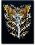 Load image into Gallery viewer, Two Eagles and Sword Rock Chang T-Shirt