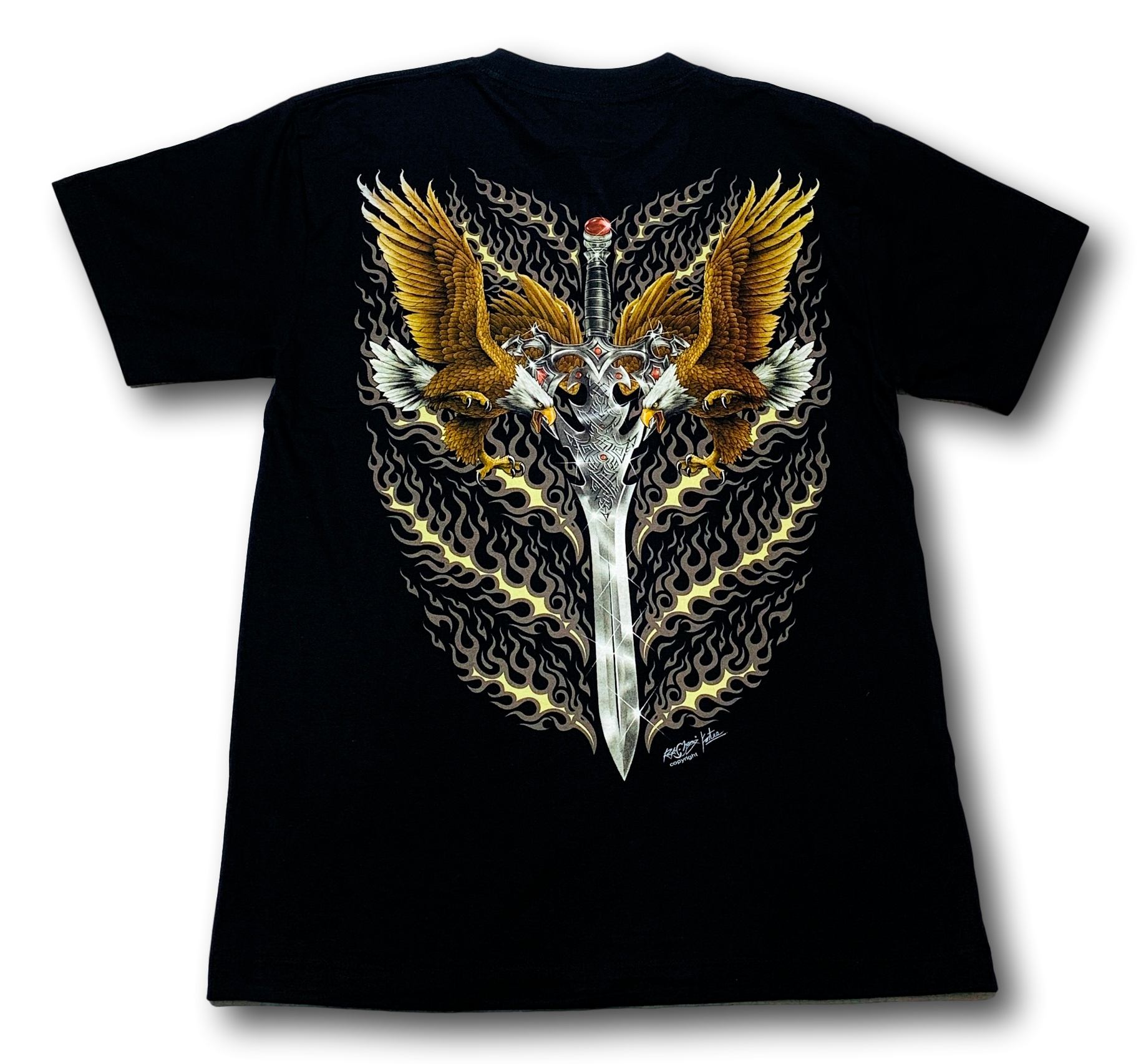 Two Eagles and Sword Rock Chang T-Shirt