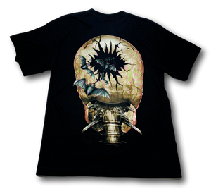 Skull Open Mouth with Bats Glow in the Dark HD Rock Eagle T-Shirt