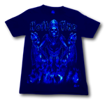 Load image into Gallery viewer, Skull in Hell Time and Metal Ring Glow in the Dark 4D Caballo T-Shirt