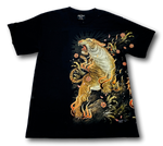 Load image into Gallery viewer, Standing Tiger Metal Studs Glow in Dark HD Rock Chang T-Shirt