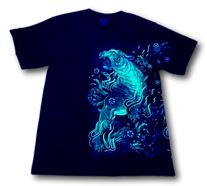 Standing Tiger Metal Studs Glow in Dark HD Rock Chang T-Shirt