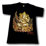 Load image into Gallery viewer, Hindu God Ganesh God of Wisdom Golden HD My Dreamer T-Shirt