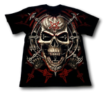 Load image into Gallery viewer, Skull with David Star Glow in the Dark HD Rock Eagle T-Shirt