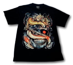 Dragon Sword Skull Glow in the Dark Rock Chang T-Shirt
