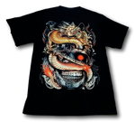 Load image into Gallery viewer, Dragon Sword Skull Glow in the Dark Rock Chang T-Shirt