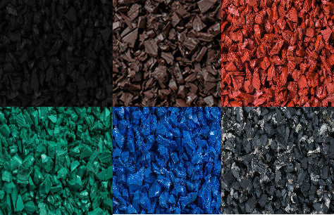 rubber mulch color collage