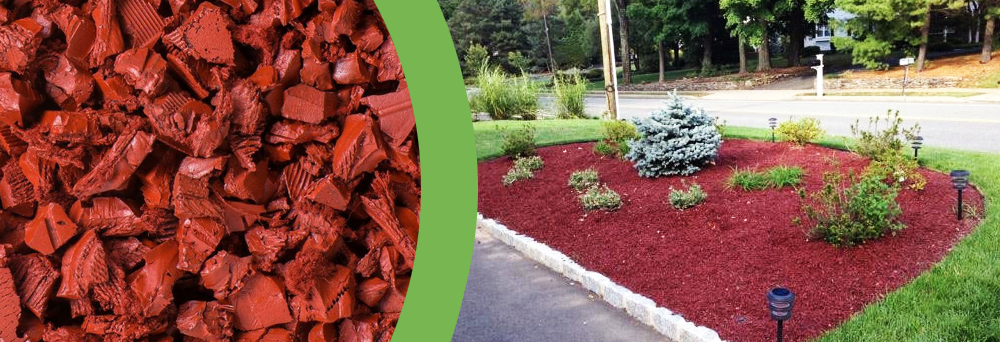 Red Rubber Mulch Design