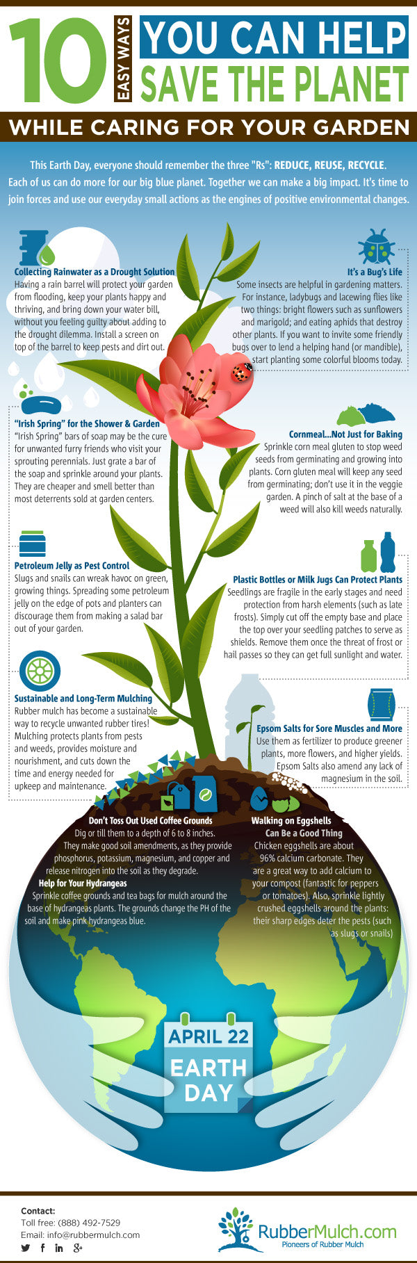 Eco friendly gardening infographic