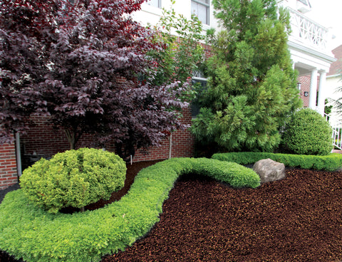 brown landscaping rubber mulch