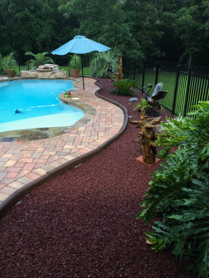 rubber mulch pool surfacing