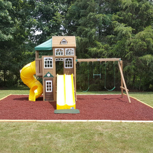 Playsafer Rubber Mulch | Terra Cotta Red