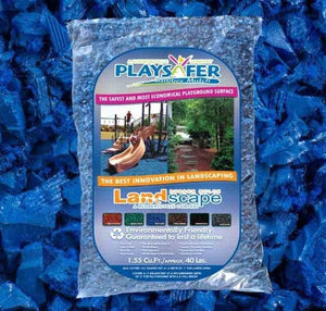 Playsafer® Blue Rubber Mulch (ASTM F-3012 CERTIFIED)