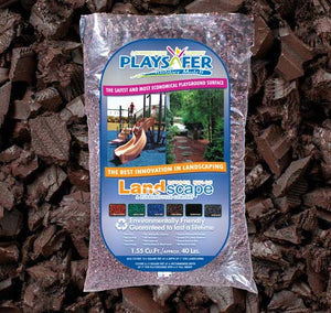 Cocoa Brown Landscape Rubber Mulch (ASTM F-3012 CERTIFIED)