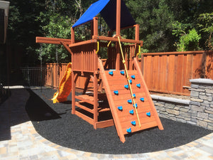 Playsafer® Black Rubber Mulch - Dyed-Solid