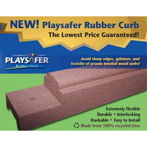 "Playsafer Commercial Rubber Border 6""H x 6'L x 4""W"