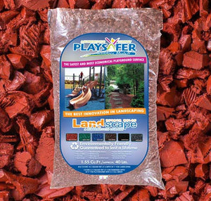 Landscape Red Rubber Mulch (ASTM F-3012 CERTIFIED)