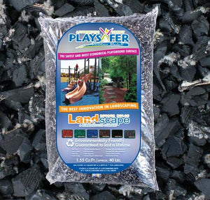 Playsafer® Black Rubber Mulch - Natural/Unpainted (ASTM F-3012 CERTIFIED)