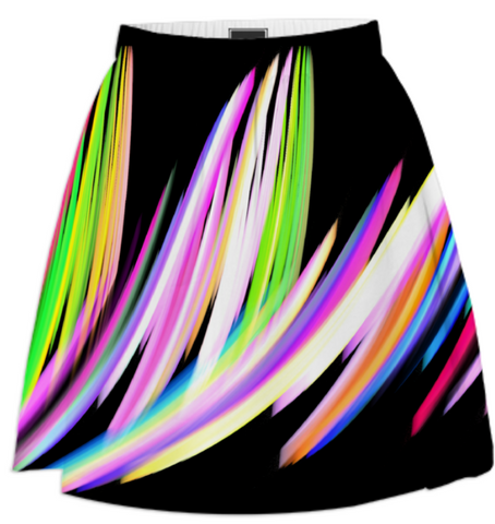 0000000P/Rainbow Scribble Black
