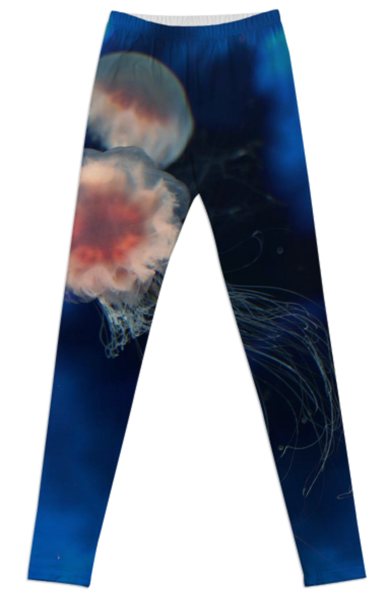 Jellyfish in Space Leggings