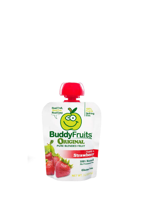 Pure Blended Strawberry Snack 100% Natural, Buddy Fruits 90 g