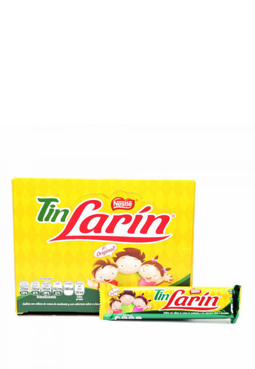 Chocolate Rectangular Tin Larín 10 pzas de 21 g c/u