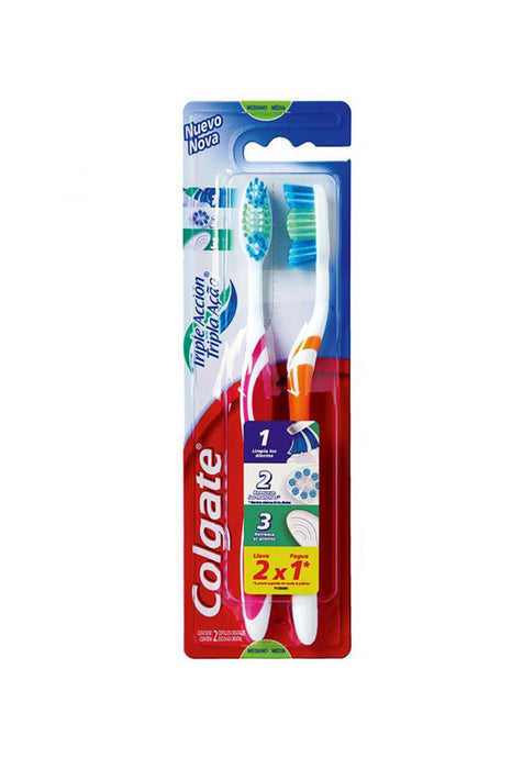 Cepillo Dental Colgate Triple Acción (2x1)