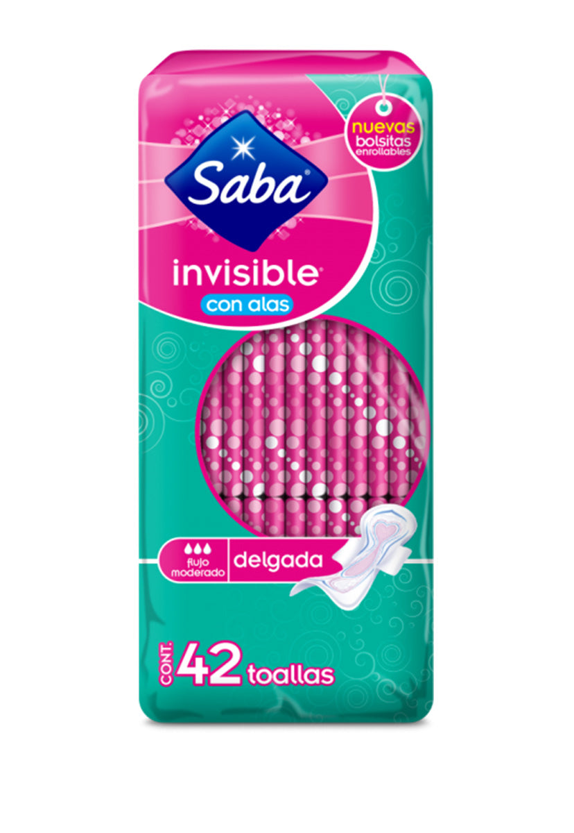 Toalla Femenina Saba Invisible 42 pzas