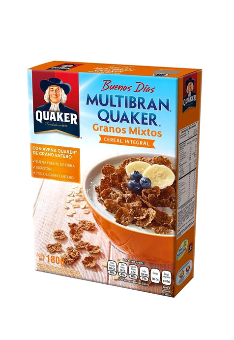 Cereal Multibran Plain Quaker 180 g
