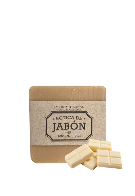 Jabón Artesanal 100% Natural y Biodegradable Chocolate Blanco, Botica de Jabón 100 g