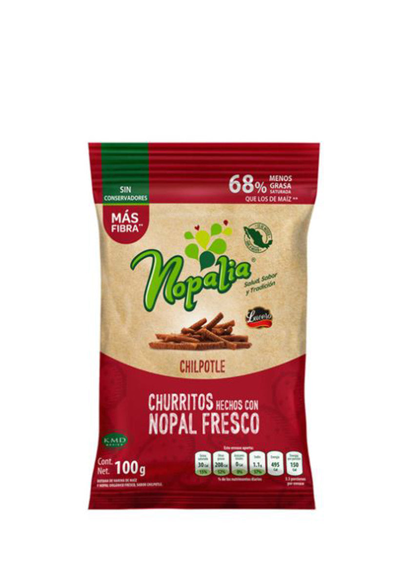 Churritos Orgánicos Chipotle Nopalia 100 g