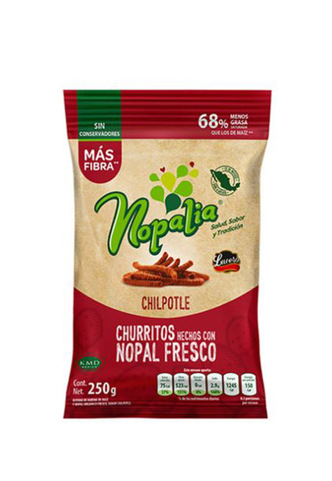Churritos Orgánicos Chipotle Nopalia 250 g