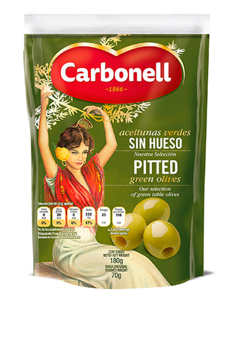 Aceituna Carbonell Doypack Sin Hueso 180 g