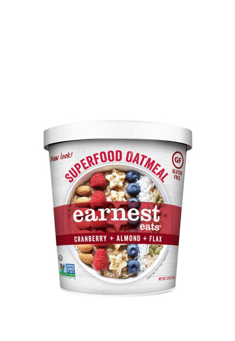 Superfood Oatmeal Cups American Blend Earnest Eats 67 g