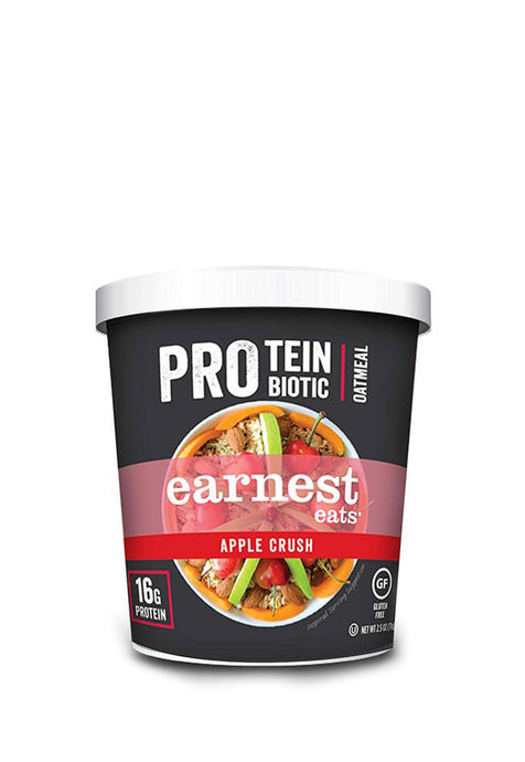 Protein & Probiotic Oatmeal Cups Apple Crush Earnest Eats 71 g