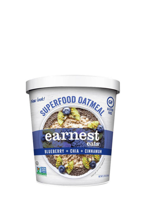 Superfood Oatmeal Cups Blueberry&Chia Earnest Eats 67 g