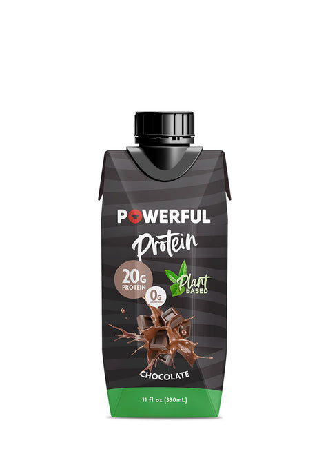Powerful Protein Chocolate Plant Based, 4 pzas de 330 ml c/u