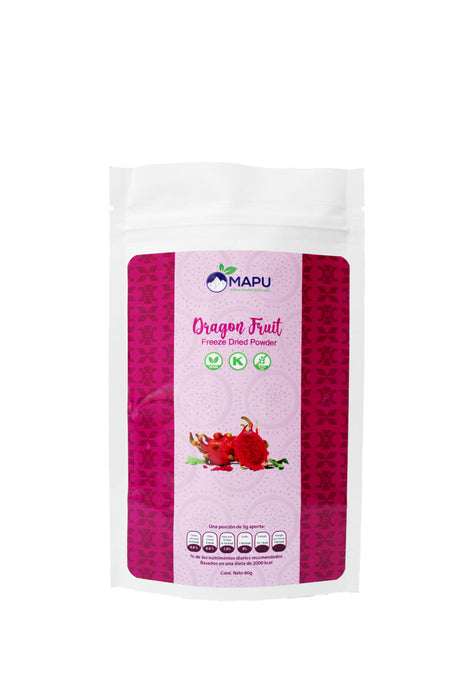 Polvo Liofilizado Dragon Fruit, Mapu 100 g