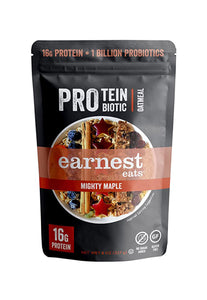 Protein & Probiotic Oatmeal Pantry Bags Mighty Maple Earnest Eats 227 g