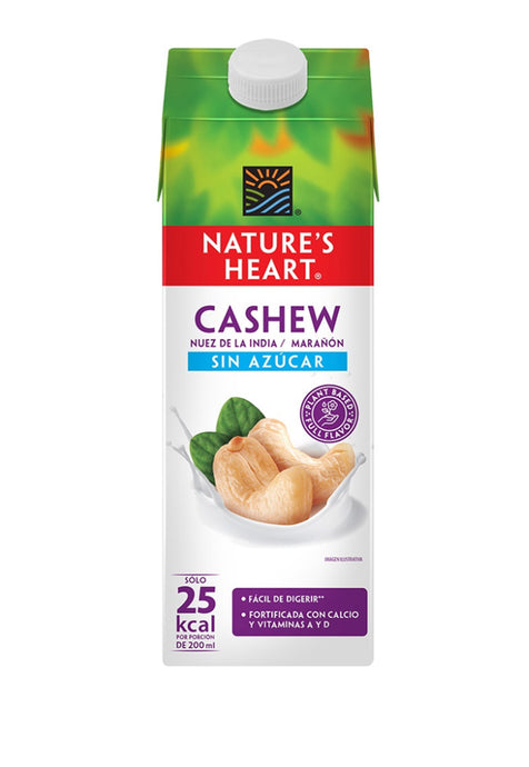 Bebida Cashew Sin Azúcar Nature's Heart 946 ml
