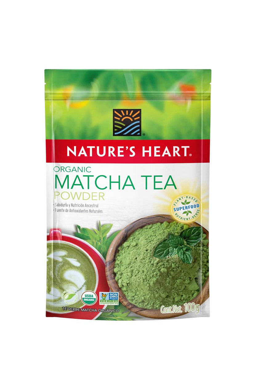 Matcha Tea Powder Orgánico Nature's Heart 100 g