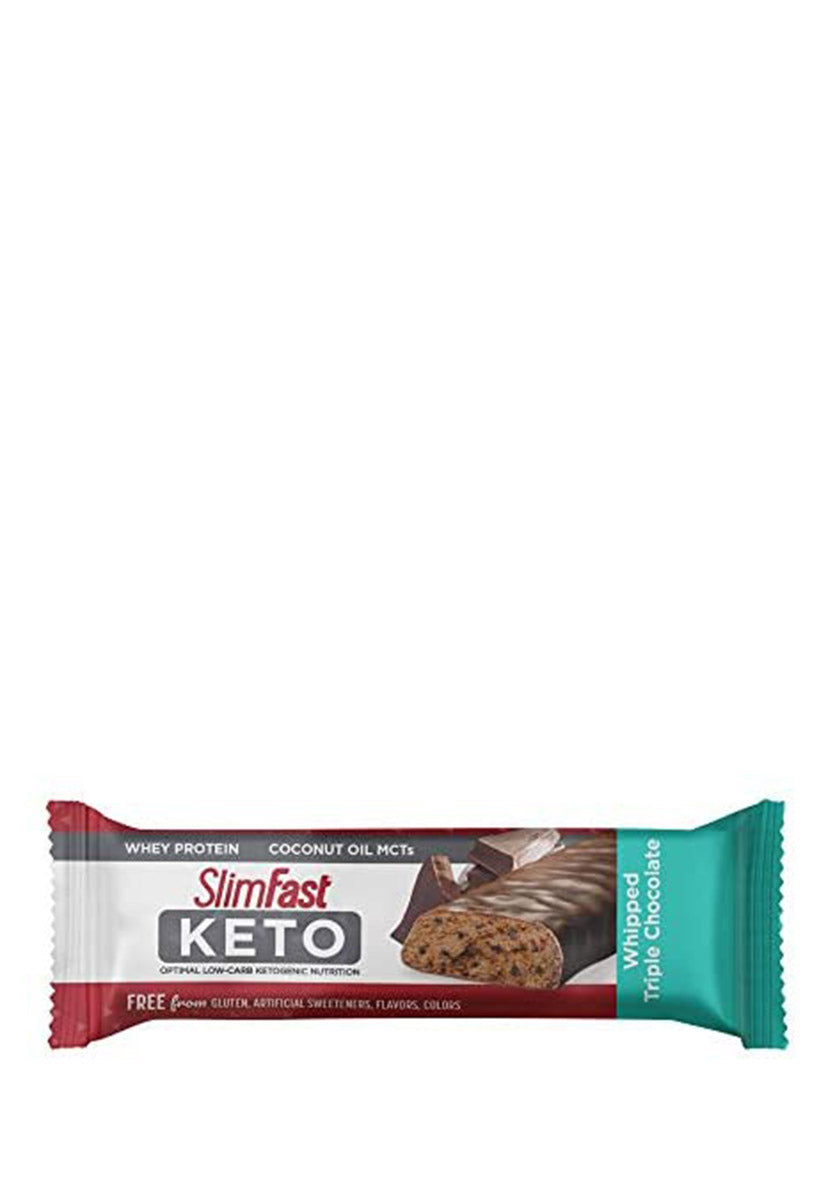 Keto Meal Bar Whipped Triple Chocolate Bar, Slimfast 42 g