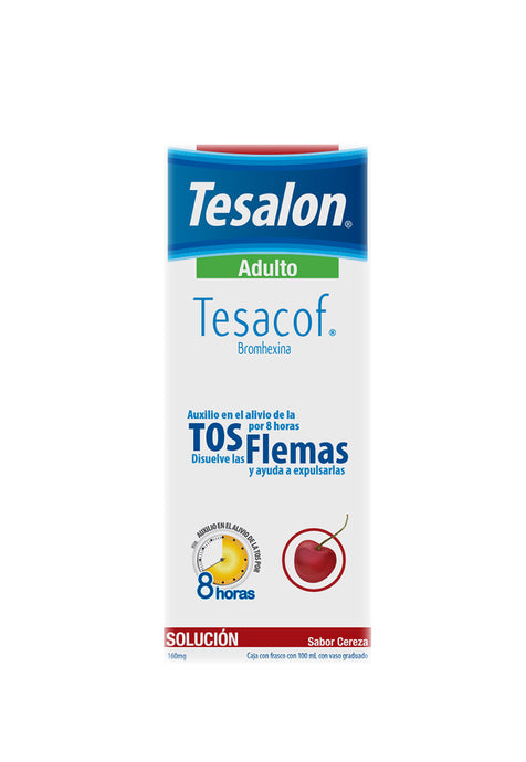 Tesalon Tesacof Adulto, Bromhexina 160mg, Frasco Con 100 ml