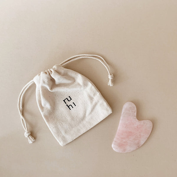 ruhi the Rose Quartz Gua Sha