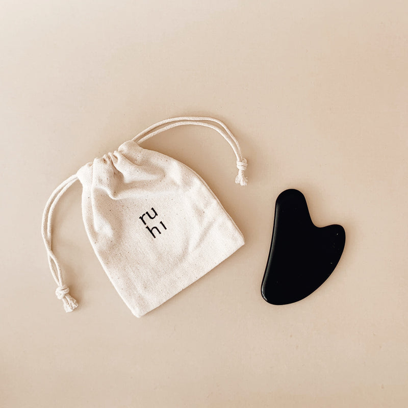 ruhi the Obsidian Gua Sha