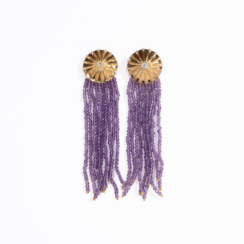 parapluie earrings amethyst diamonds detachable fine jewels jewelry design yuno sugihara protective meaning